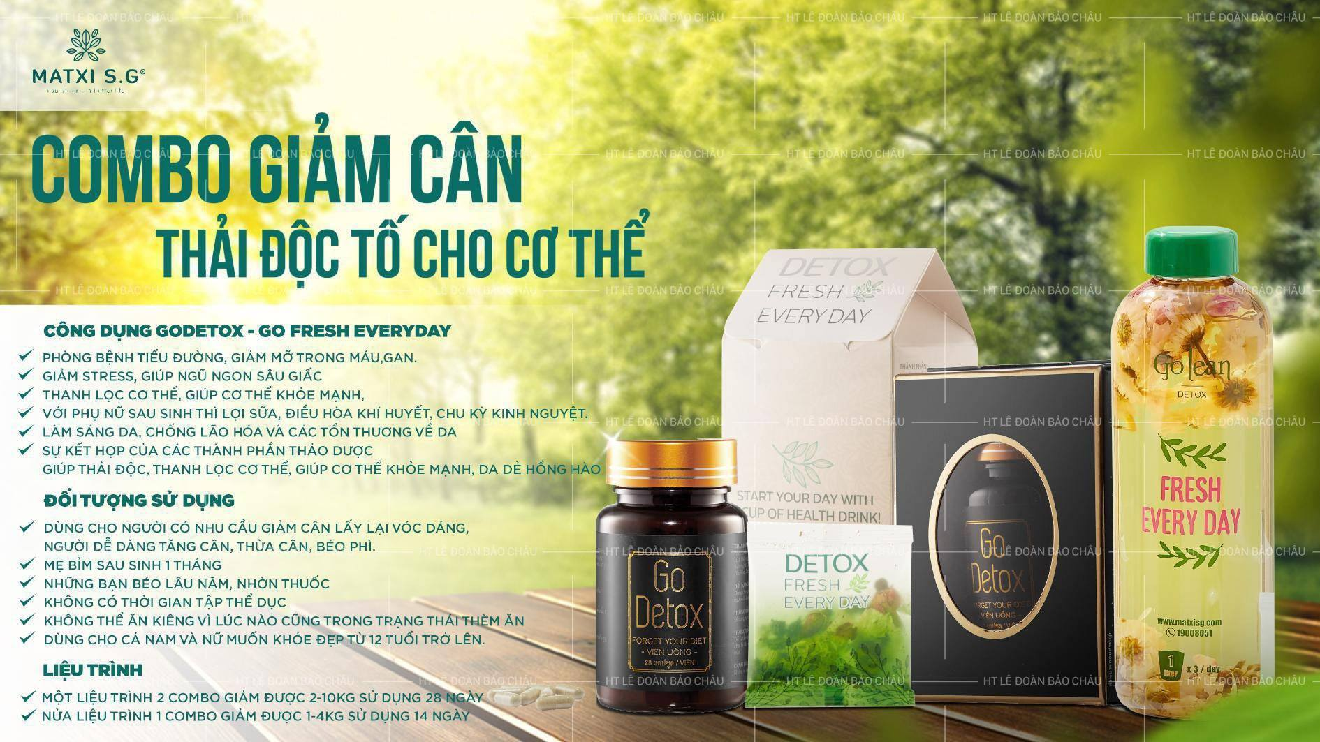 vien uong giam can go detox va tra nu hoa thai doc detox fresh every day