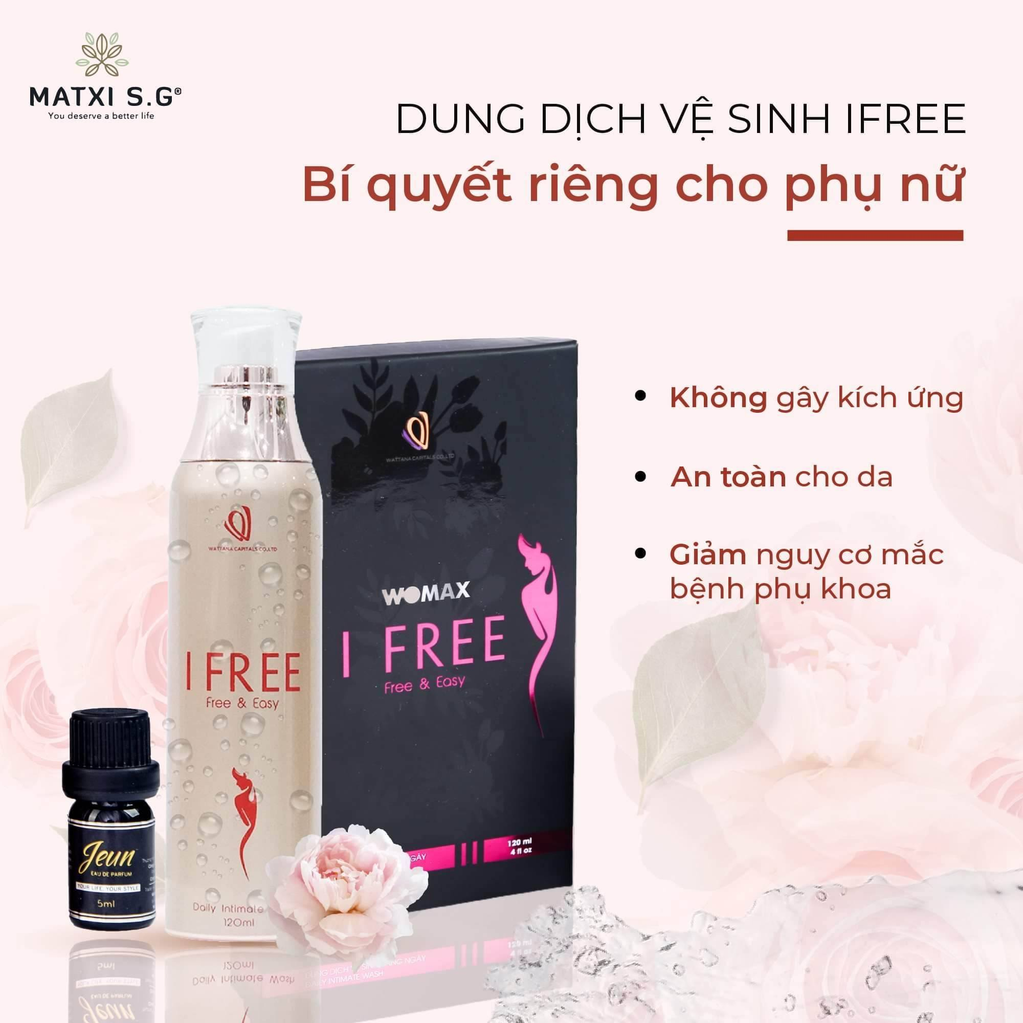 dung dich ve sinh phu nu ifree 1