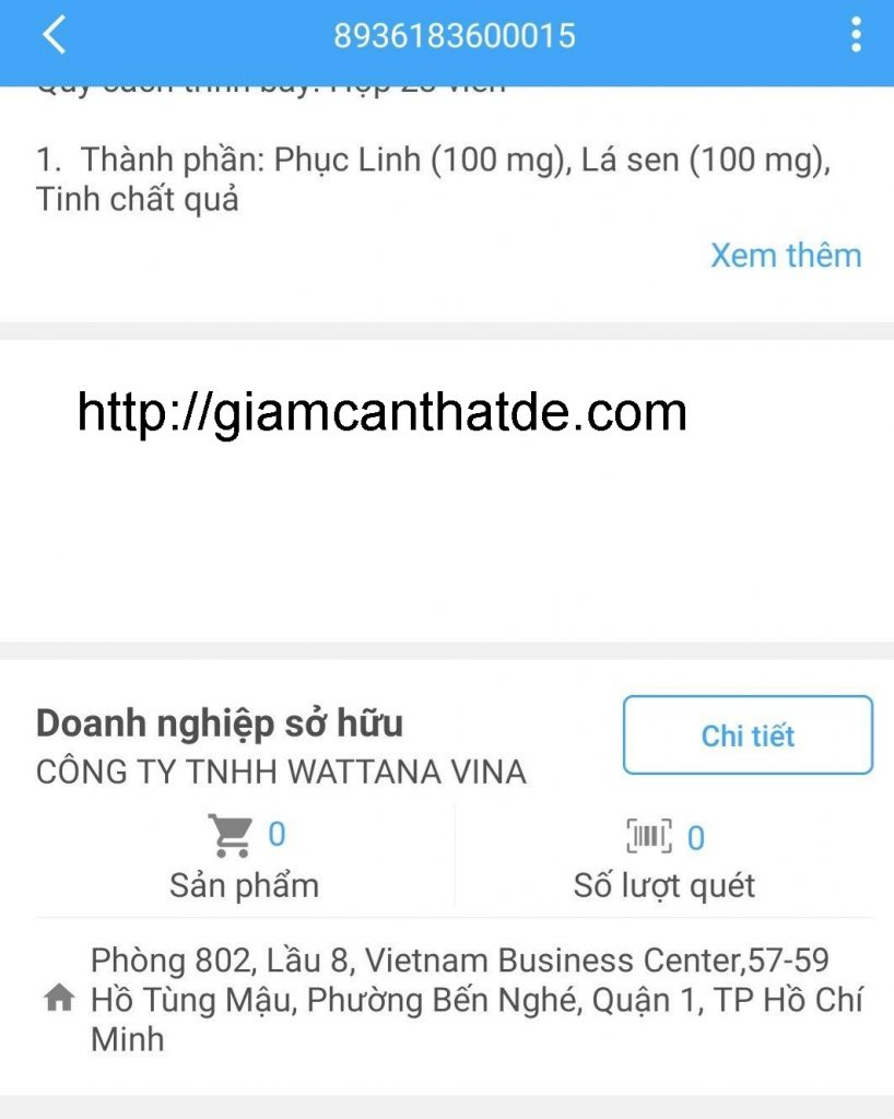 Cach kiem tra hang chinh hang vien uong giam can go detox 4